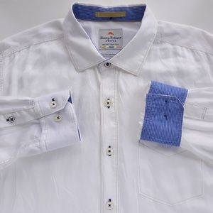 Tommy Bahama Jeans White Relaxing Shirt Mens L